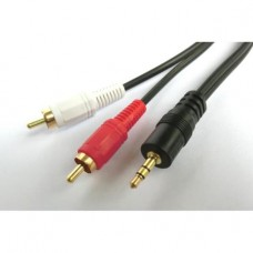 Cable Audio 3.5mm M/2xRCA M 1m Aculine AU-011